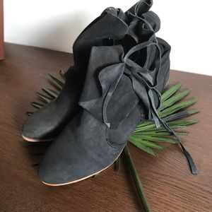 Free People Grey Moonshine Ankle Boot